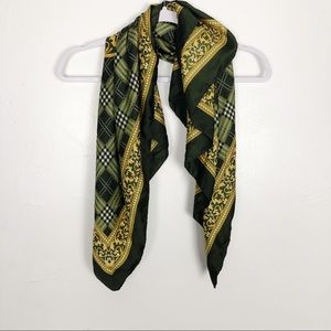 Kathie Lee Collection Green and Gold Scarf